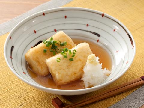 冷凍で水きり短縮!揚げ出し豆腐