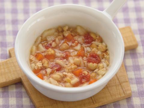 煮豆のトマトうどん