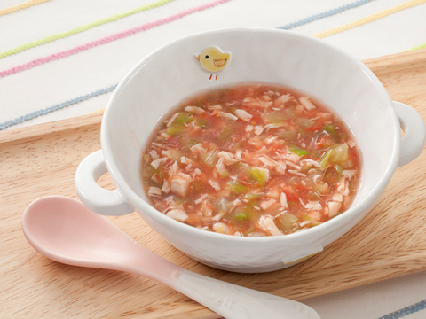 鶏とキャベツのトマト煮