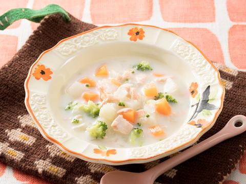 サケと野菜のシチュー
