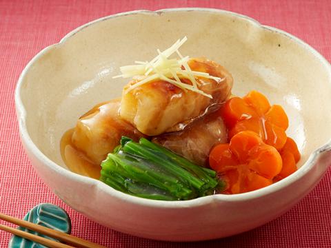 長芋の豚肉巻き煮