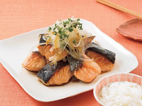 鮭のこんがり焼き 変わり土佐酢
