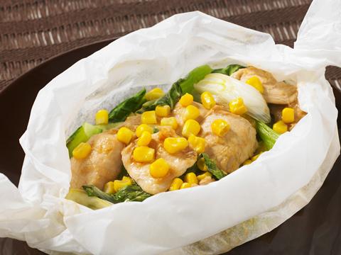 鶏胸肉の黒酢ジンジャーはちみつソース